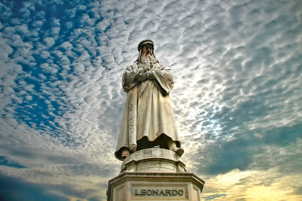 Leonardo Da Vinci, Piazza Della Scala, Milan, Italy.JPG