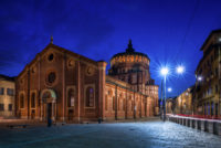 Last Supper Ticket (Wednesdays and Saturdays) - Santa Maria delle Grazie church at evening, Milan, Italy.JPG