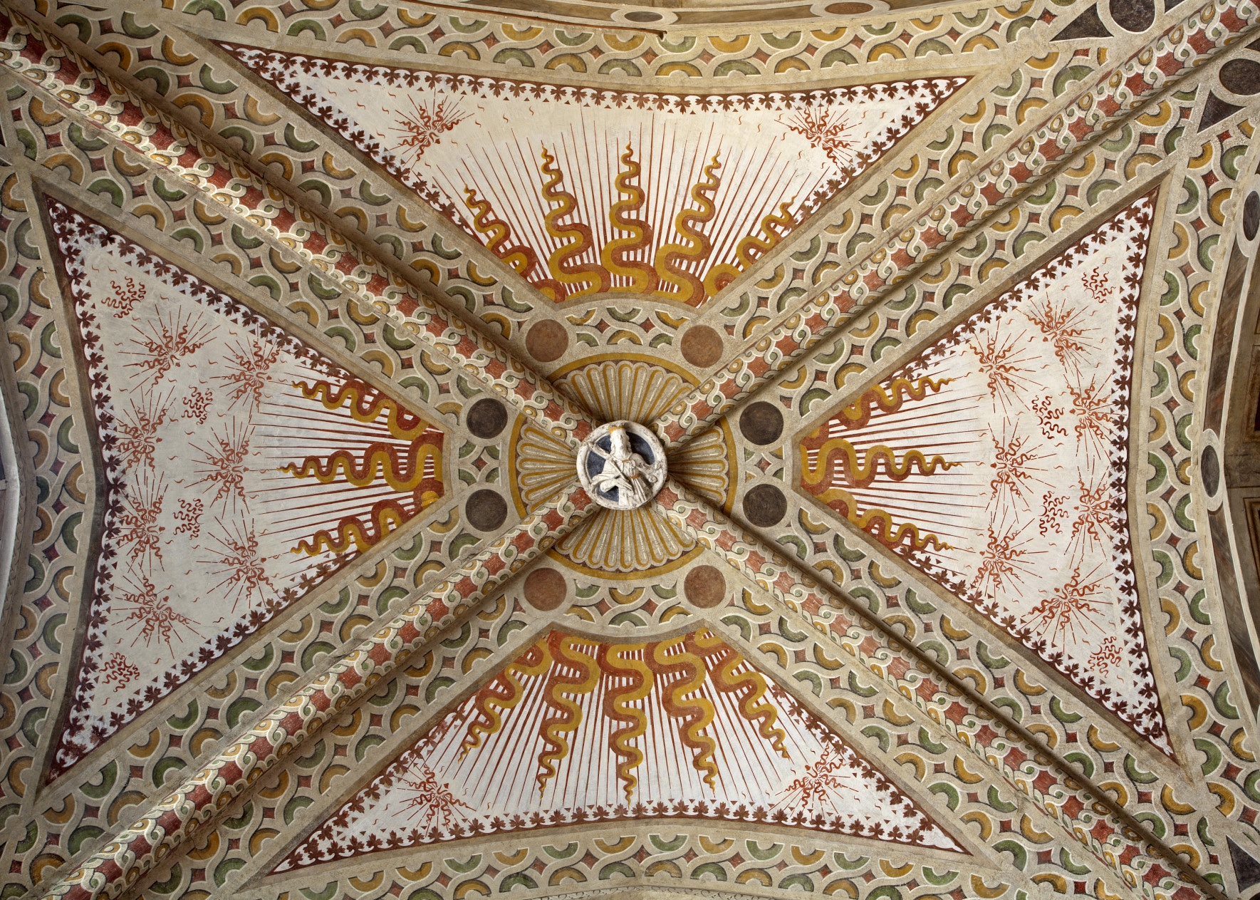 Milan - detail of roof from church Santa Maria delle Grazie