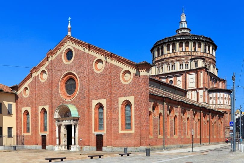 Santa Maria delle Grazie church with the Last supper fresco by Leonardo da Vinci