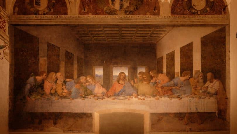 The Last Supper by Leonardo da Vinci in the refectory of the Convent of Santa Maria delle Grazie